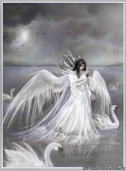 Ангелы в виде лебедей