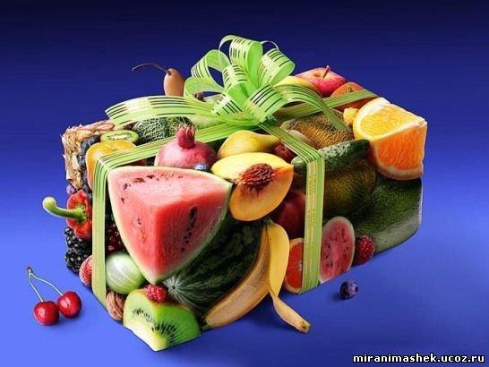 Поздравление с фруктами и овощами на день рождения 93