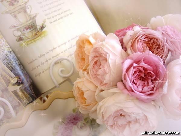 анимационные картинки Цветы, открытки Цветы