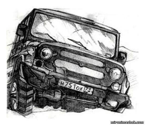 Машин рисунки карандашом машин