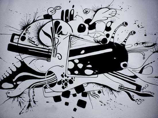 Белые рисунки мультяшек карандашом