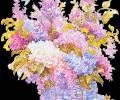 Корзинка цветов красивая Анимация, анимашки бесплатно